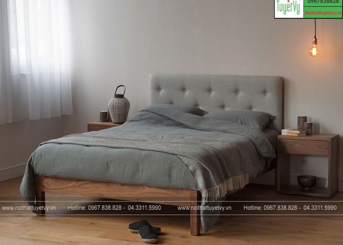 Giường ngủ gỗ xoan đào GN16