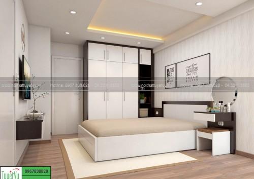 Mẫu giường gỗ đẹp GN13