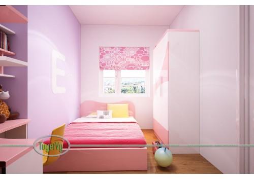 Phòng ngủ bé gái màu hồng đẹp - PNTE04