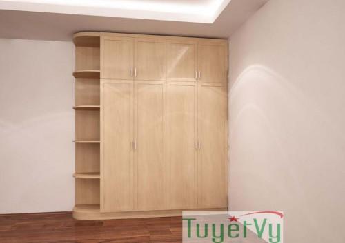 Tủ quần áo gỗ Sồi tự nhiên - TQA04
