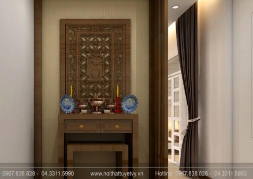 Mẫu bàn thờ gỗ giá rẻ PT01