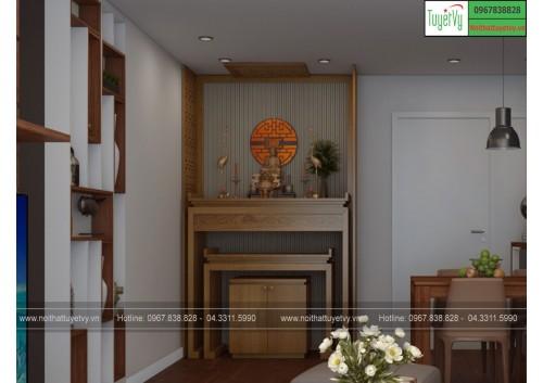 Mẫu bàn thờ gỗ PT06