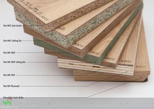 Các loại gỗ công nghiệp thường được sử dụng trong nội thất hiện nay