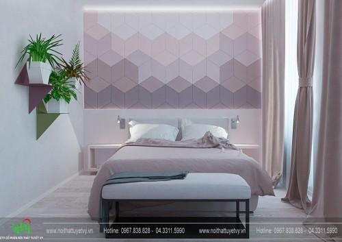 Những mẫu trang trí đầu giường ấn tượng