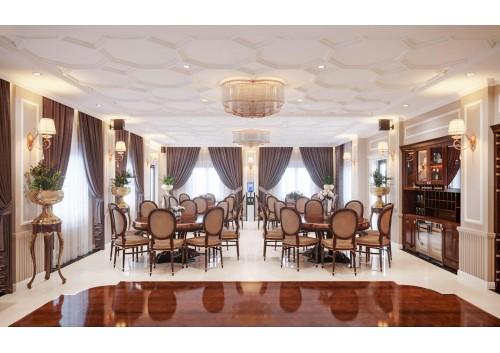 Thiết kế thi công phòng tiếp khách công trình khách sạn ( Hải Dương )