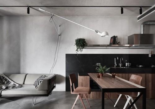 Căn hộ nhỏ với ý tưởng tiết kiệm không gian và sử dụng nội thất đa chức năng