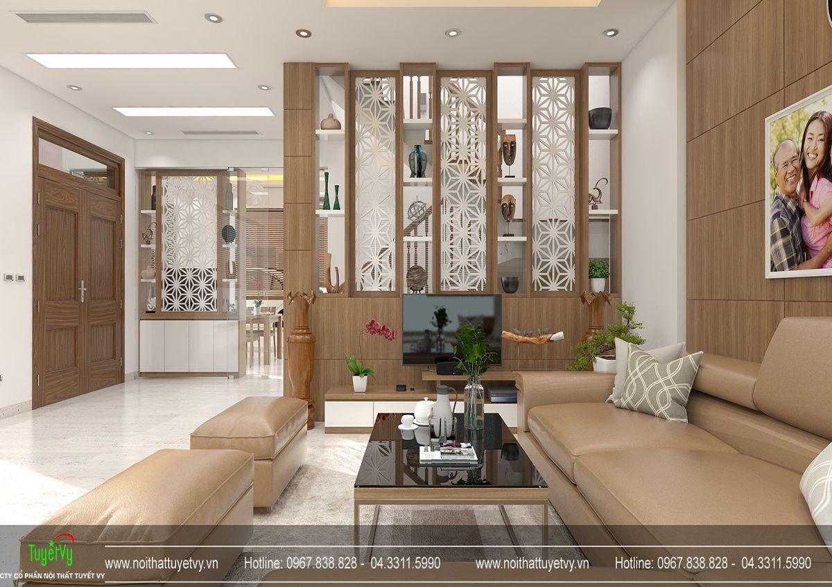 Thiết kế nội thất biệt thự Linh Đàm 02