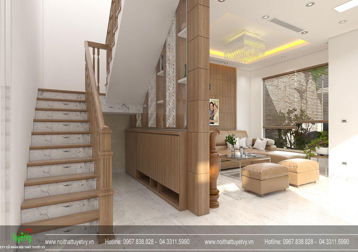 Thiết kế nội thất biệt thự Linh Đàm 03