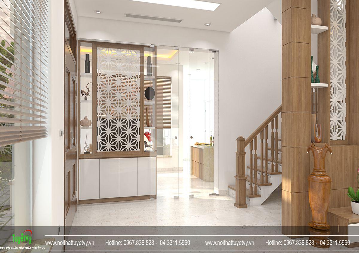 Thiết kế nội thất biệt thự Linh Đàm 04