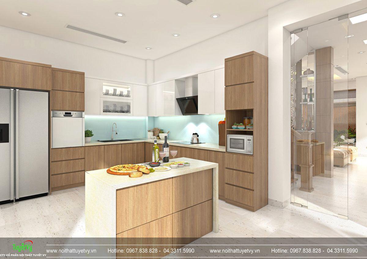 Thiết kế nội thất biệt thự Linh Đàm 05
