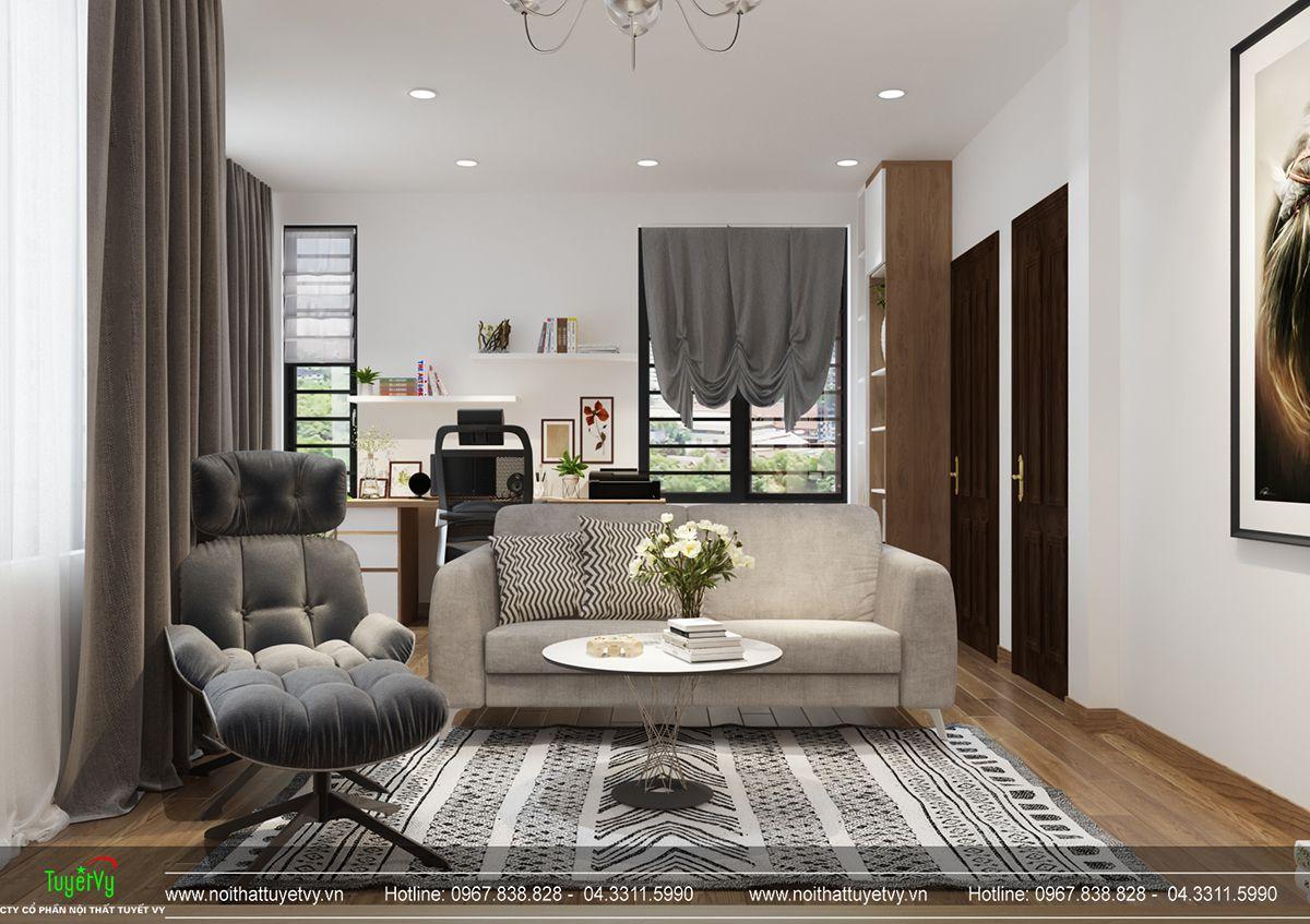 Thiết kế nội thất biệt thự Linh Đàm 17