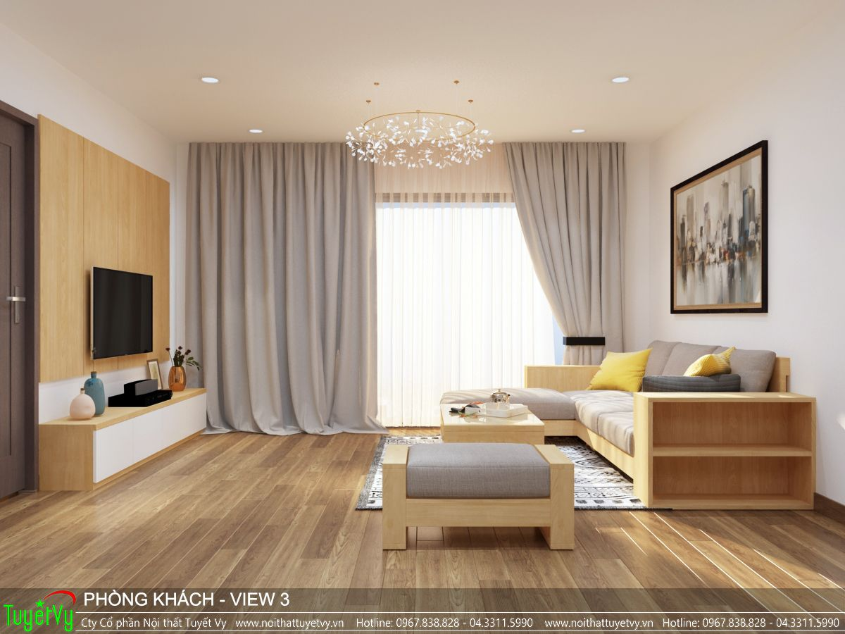 Nội thất phòng khách Ecogreen 02