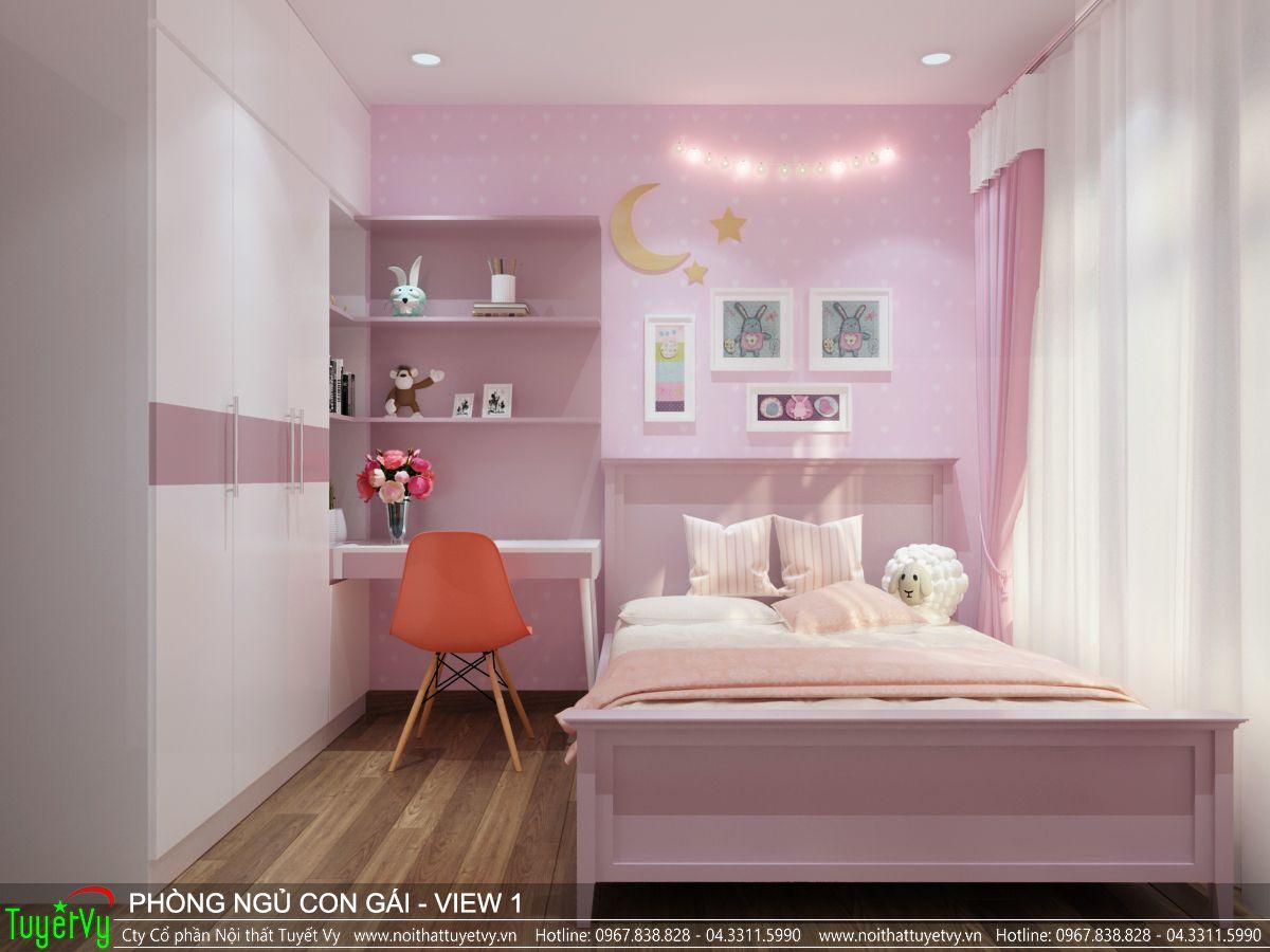 Nội thất phòng ngủ con gái Ecogreen 01