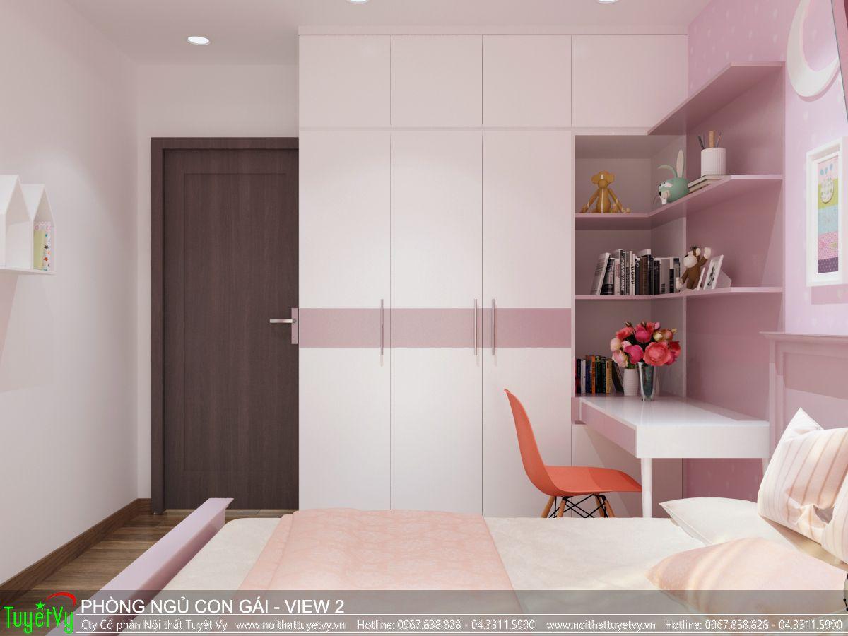 Nội thất phòng ngủ con gái Ecogreen 02