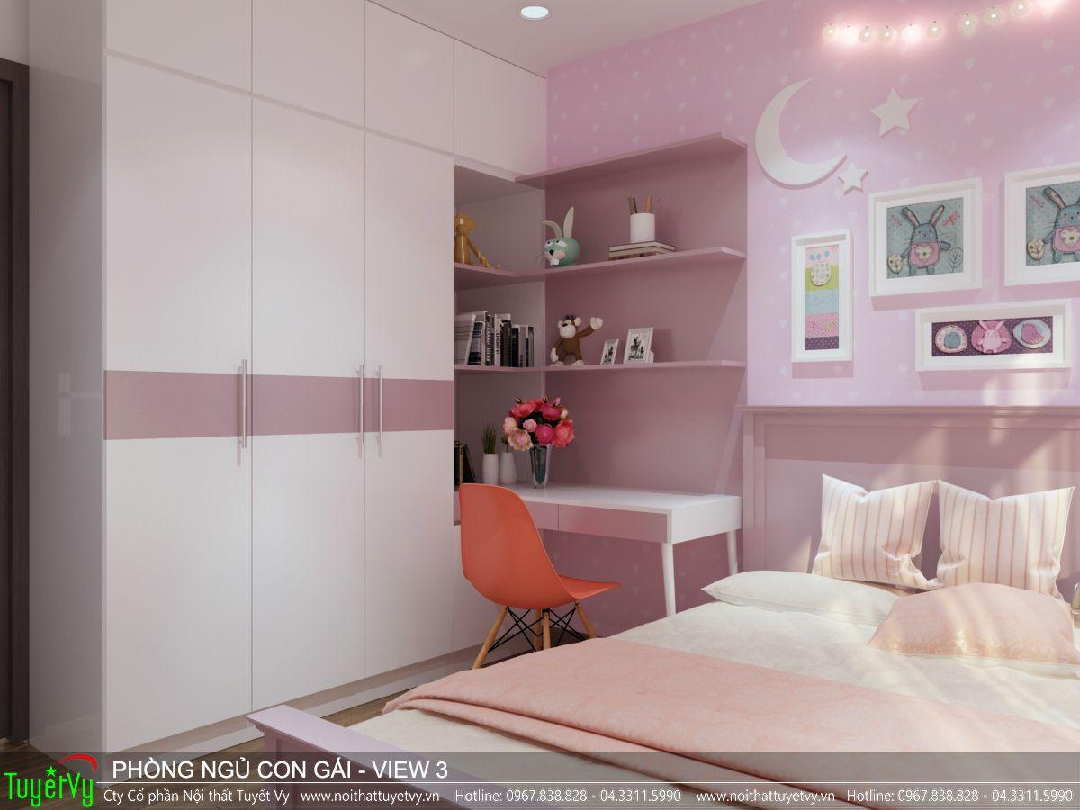 Nội thất phòng ngủ con gái Ecogreen 03