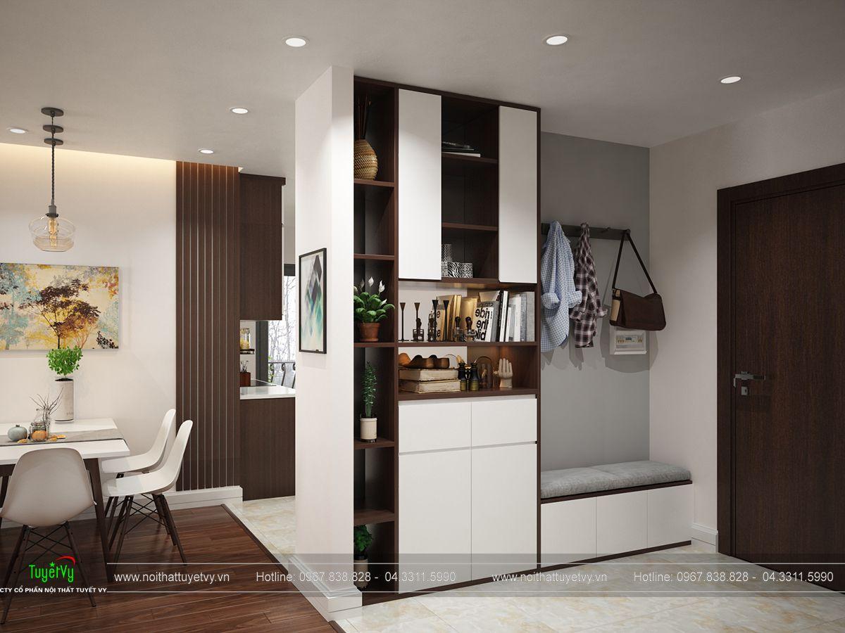 nội thất phòng bếp chung cư ecogreen