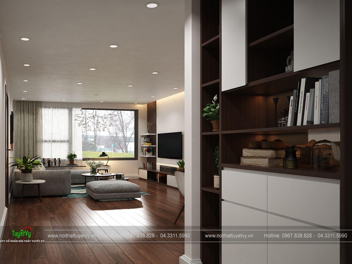 nội thất phòng khách chung cư ecogreen