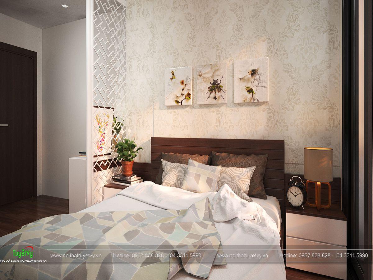 nội thất phòng ngủ chung cư ecogreen