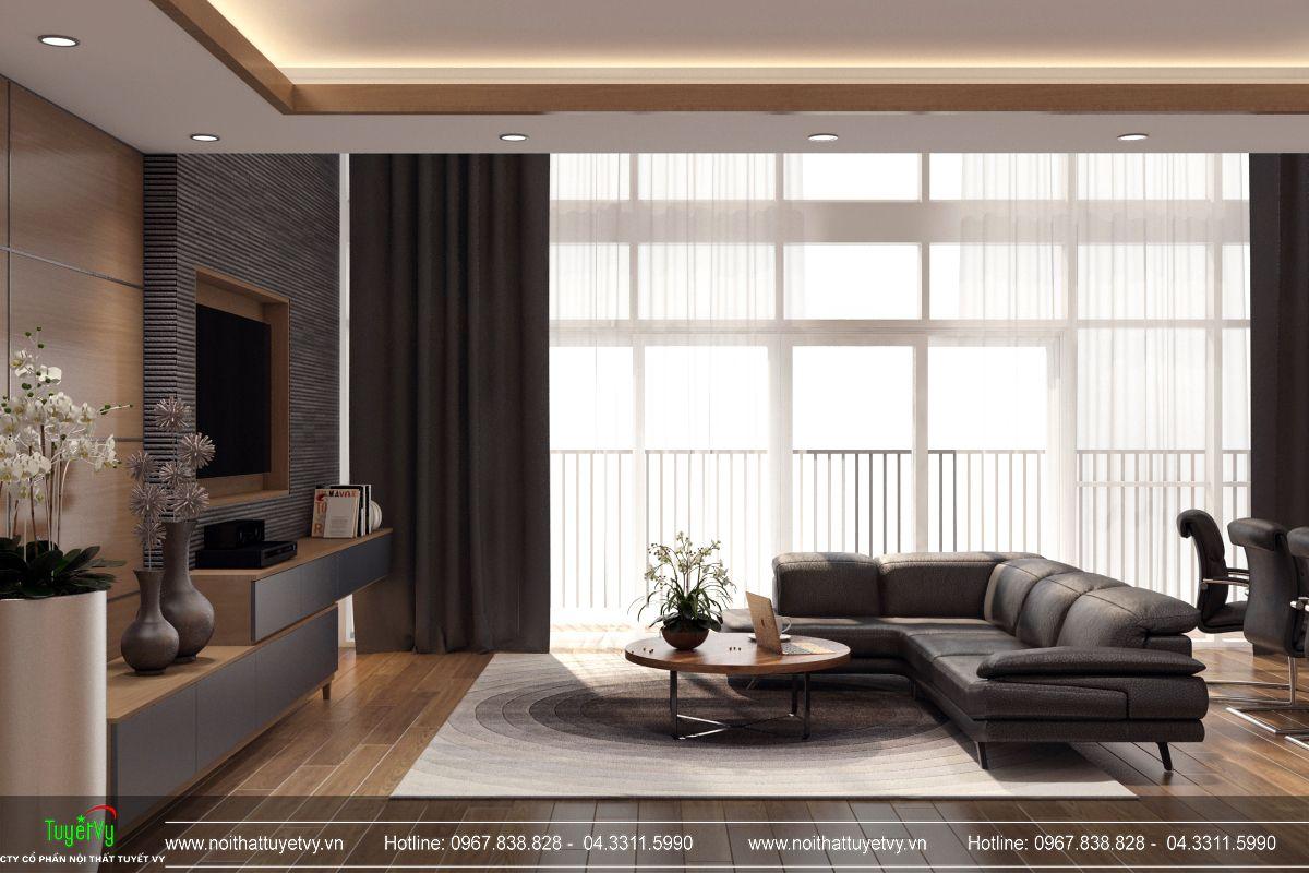 Nội thất phòng khách chung cư Mandarin