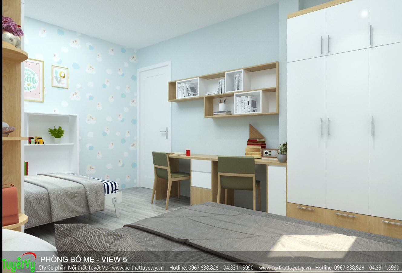 Thiết kế nội thất căn hộ 10 Five Star Kim Giang
