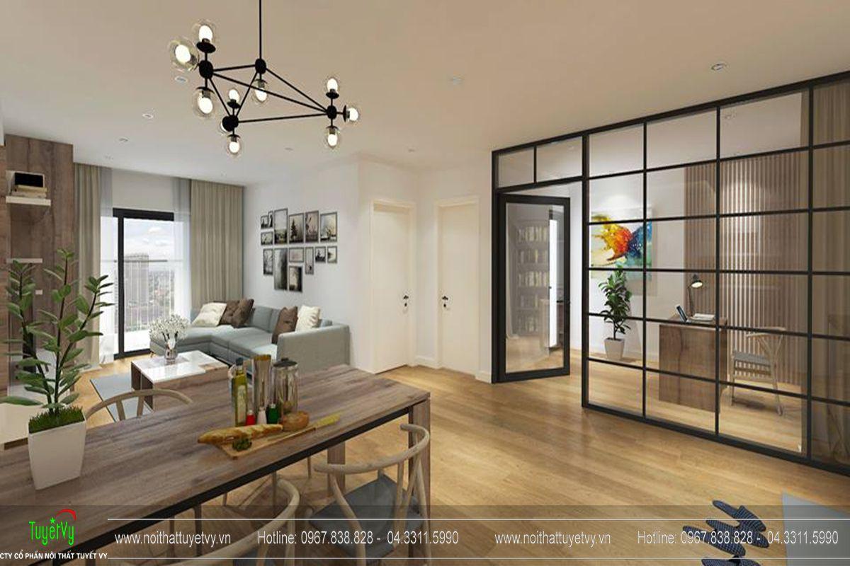 Thiết kế nội thất chung cư goldmark city tòa Ruby 1-01