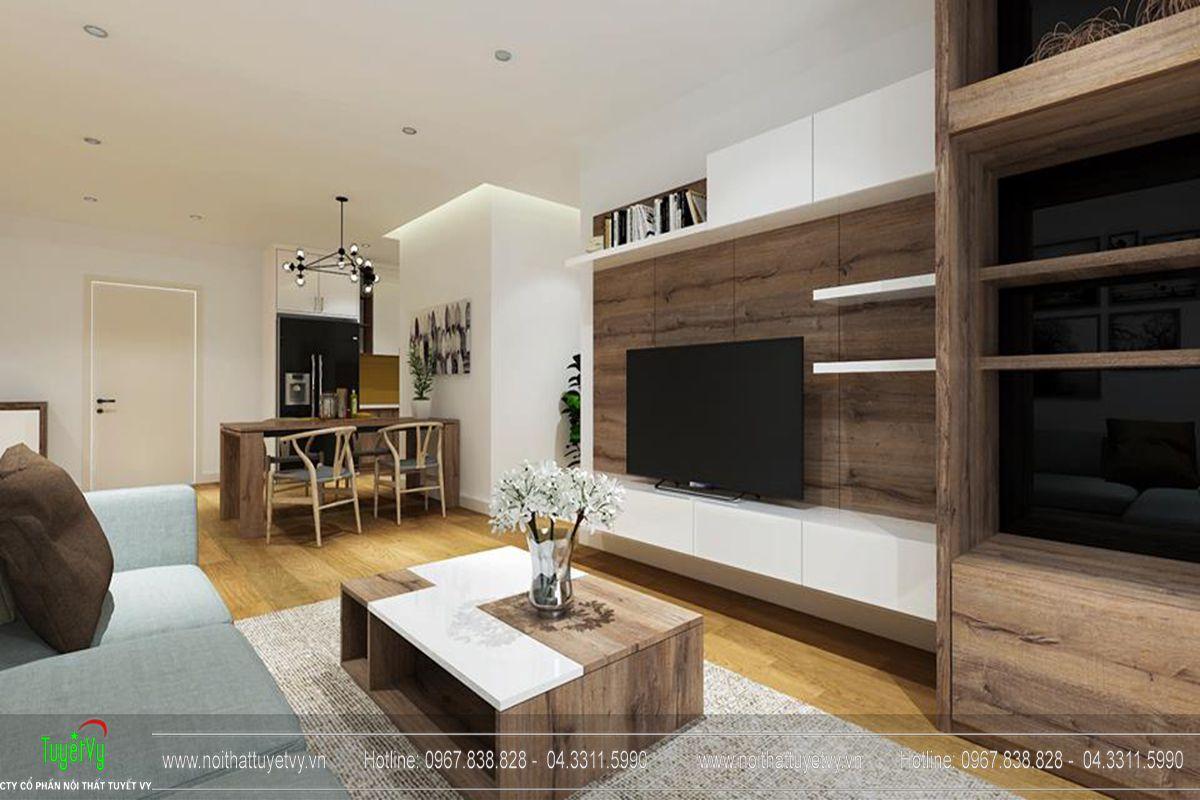 Thiết kế nội thất chung cư goldmark city tòa Ruby 1-02