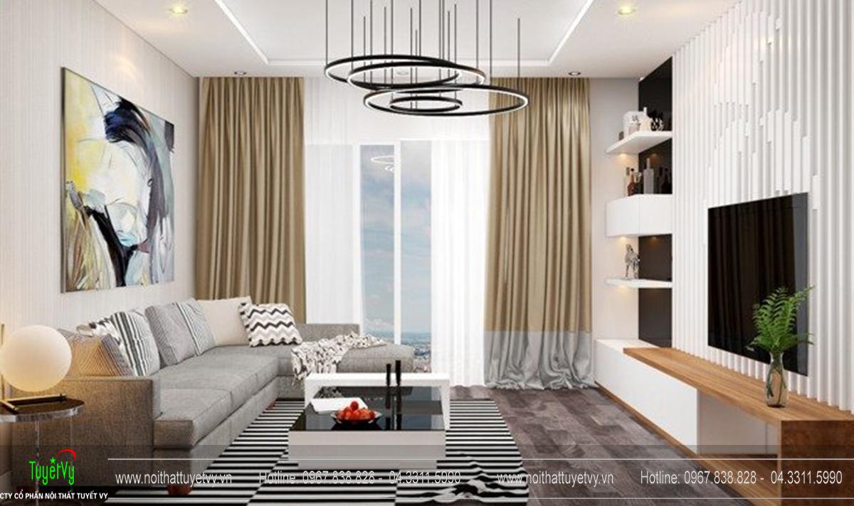 Thiết kế nội thất chung cư Goldmark Ruby 1 căn 9 - 02