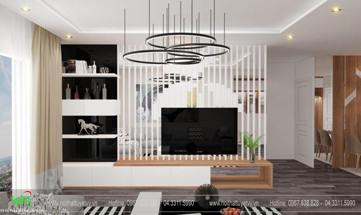 Thiết kế nội thất chung cư Goldmark Ruby 1 căn 9 - 03