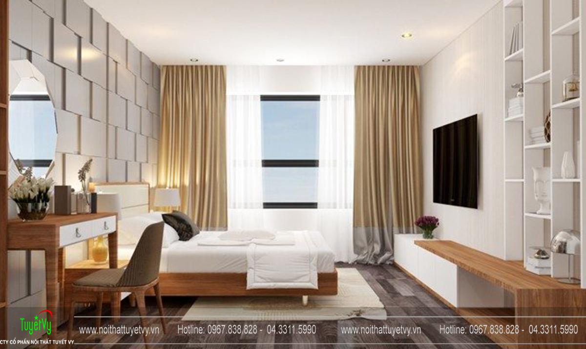 Thiết kế nội thất chung cư Goldmark Ruby 1 căn 9 - 05
