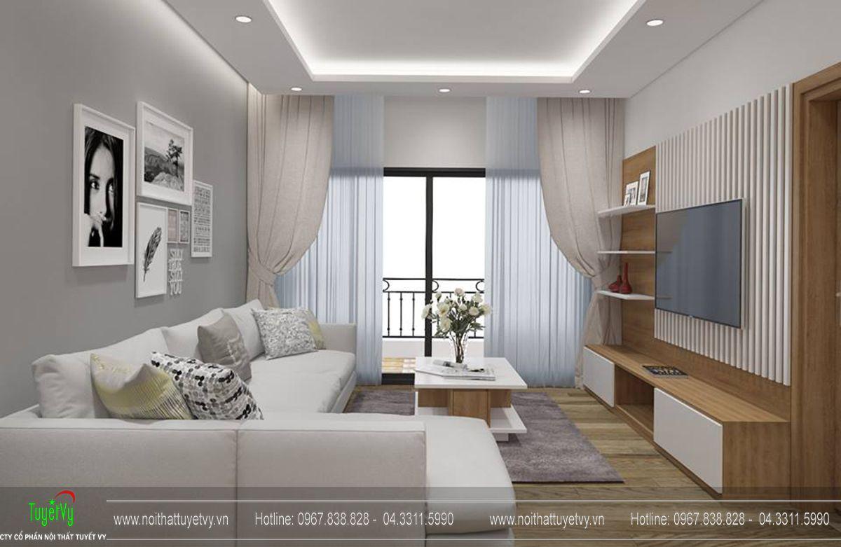 Thiết kế nội thất chung cư goldmark tòa ruby 2 căn 1 - 02
