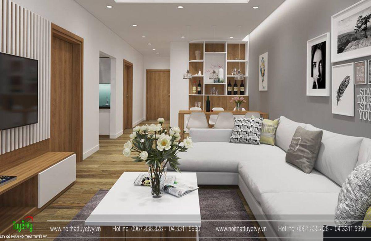 Thiết kế nội thất chung cư goldmark tòa ruby 2 căn 1 - 03
