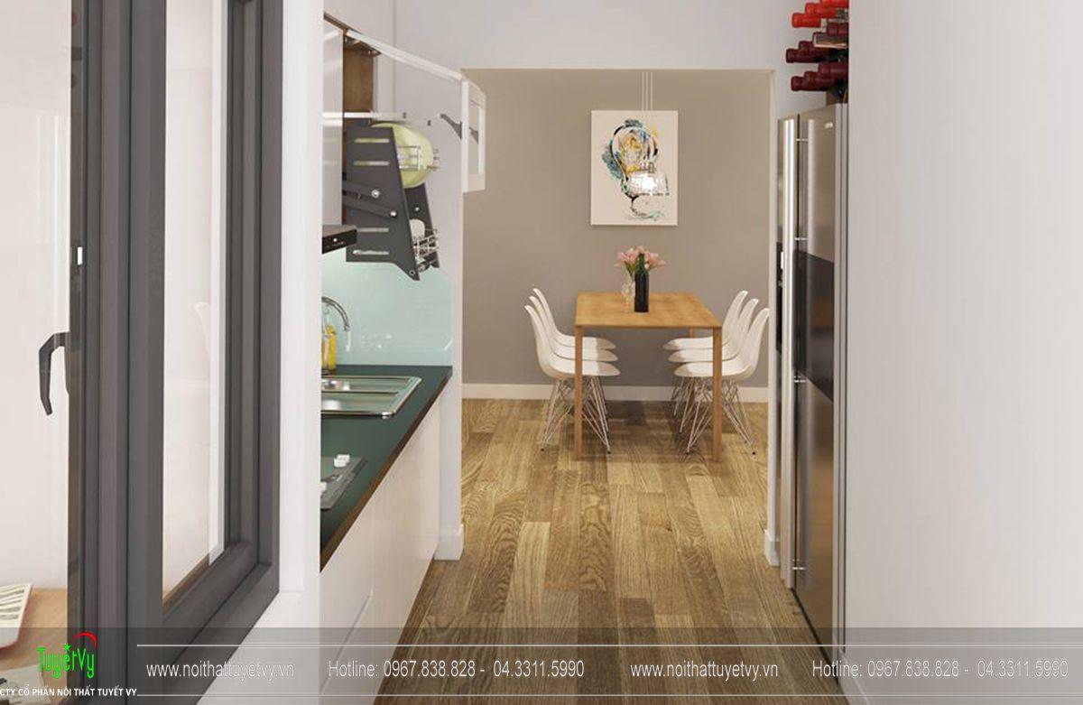 Thiết kế nội thất chung cư goldmark tòa ruby 2 căn 1 - 04