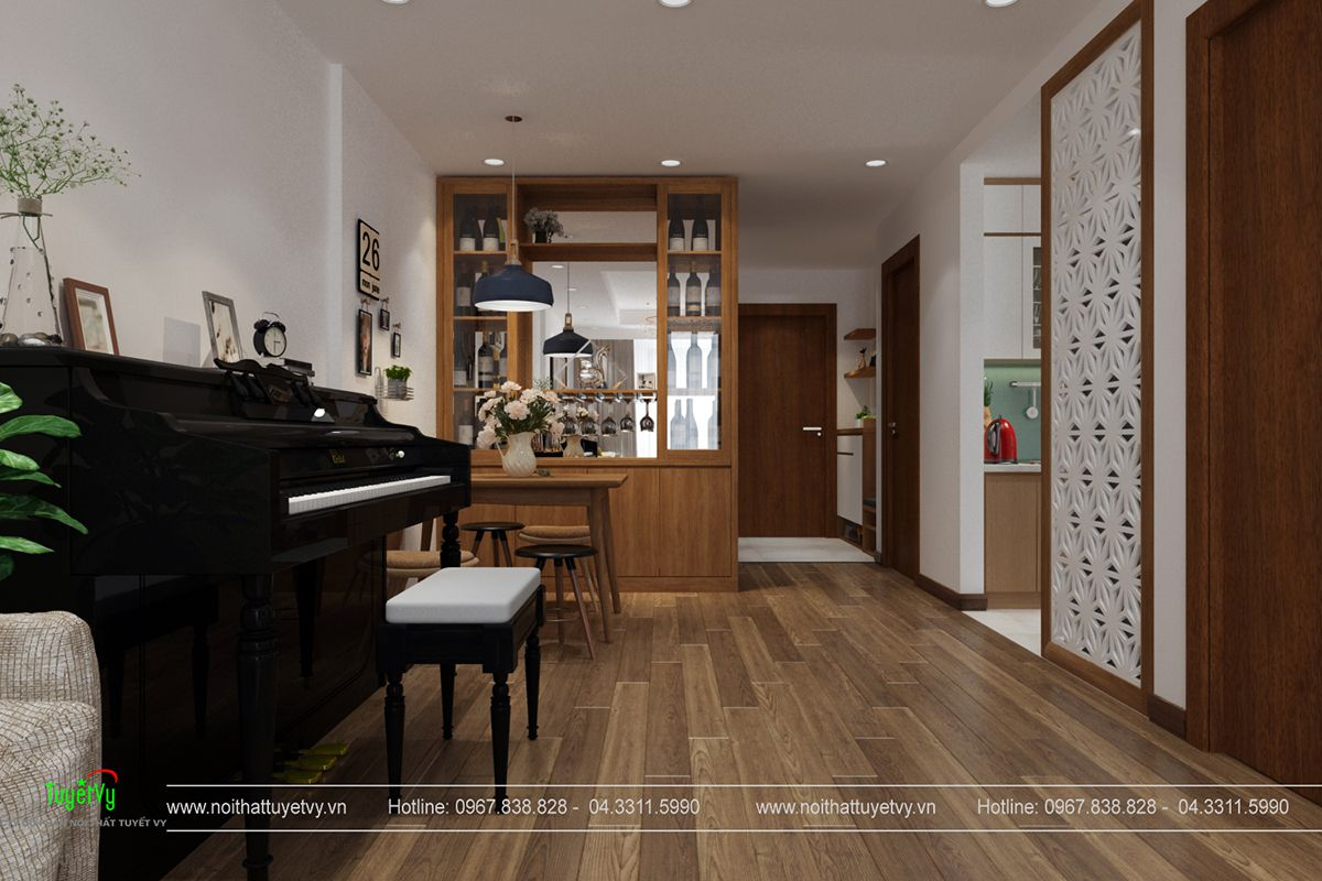 Nội thất chung cư goldmark city căn 2805 R3 03