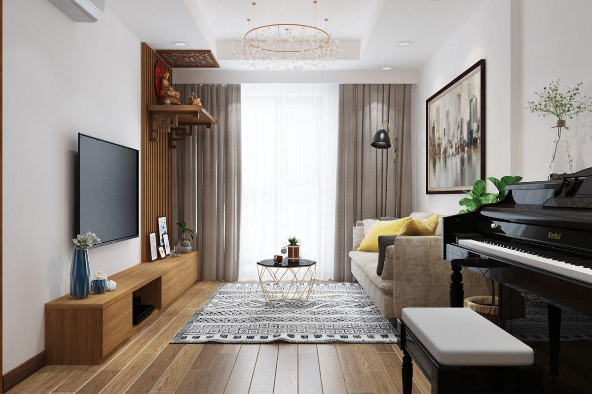 Nội thất chung cư goldmark city căn 2805 R3 01
