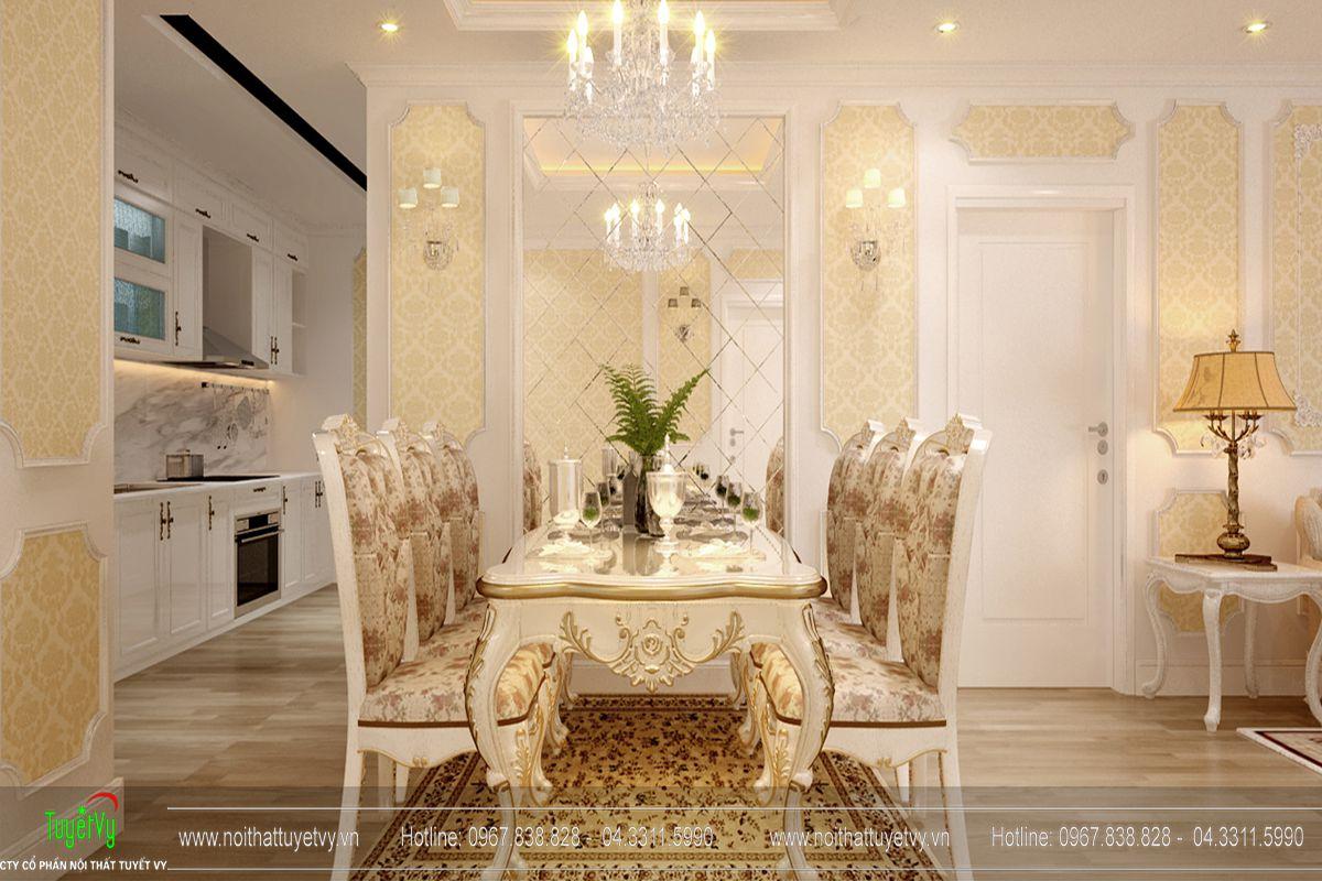 Thiết kế nội thất chung cư Goldmark City tòa Ruby 4 căn 9 - 04