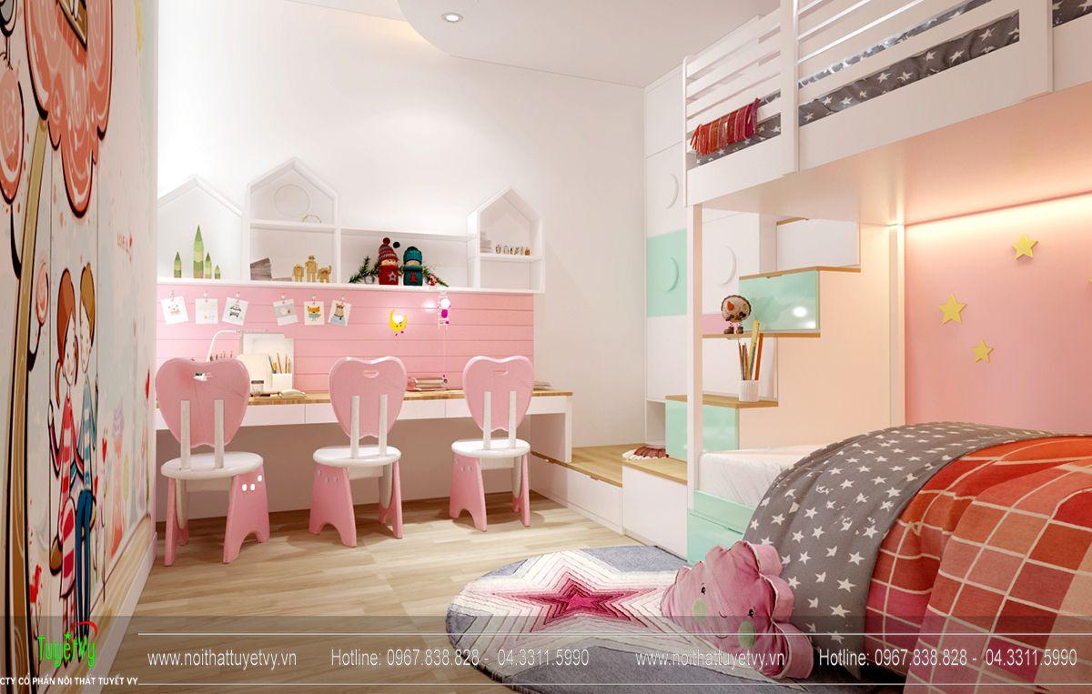 Thiết kế nội thất chung cư Goldmark City tòa Ruby 4 căn 9 - 10