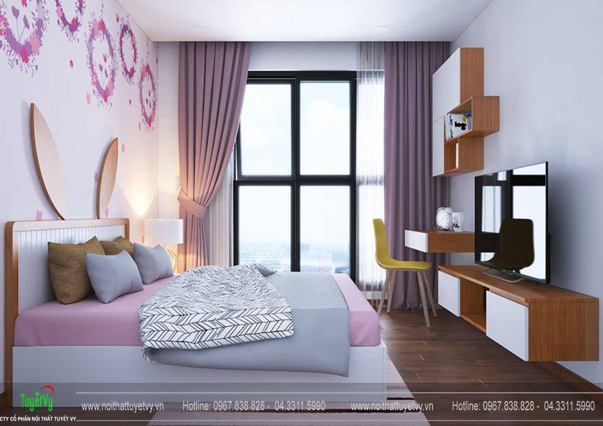 Thiết kế nội thất chung cư Goldmark city tòa Sapphire căn hộ 07