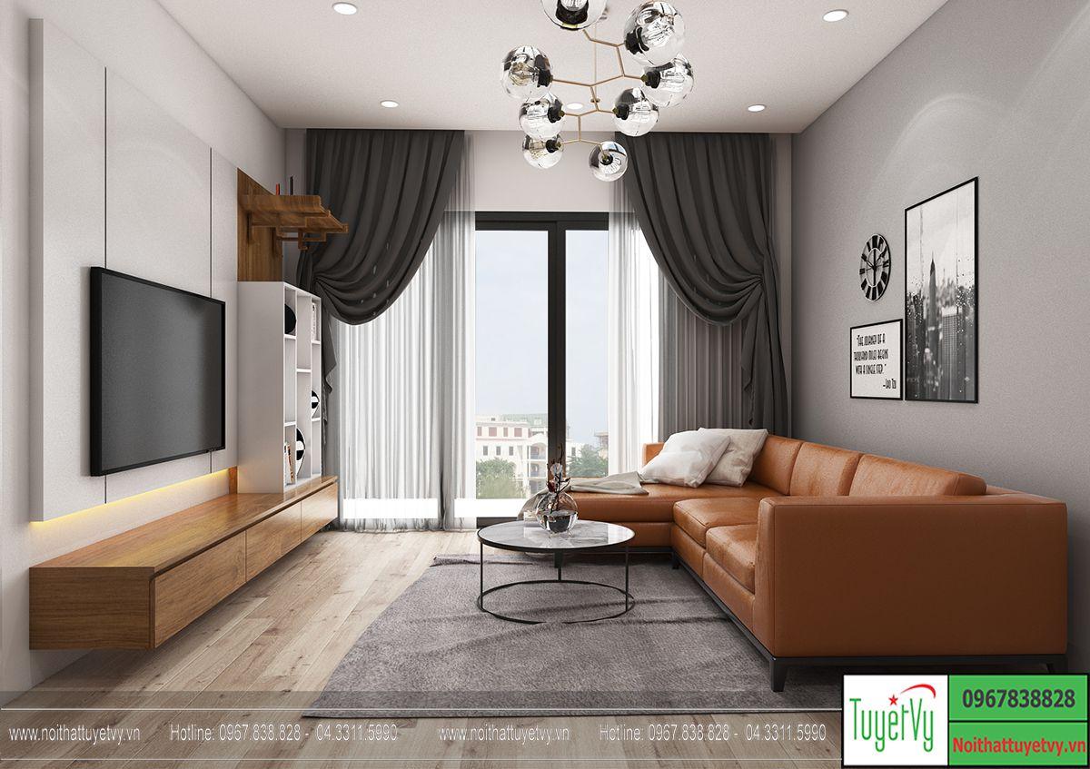 Thiết kế nội thất chung cư goldmark tòa sapphire 2 căn 1