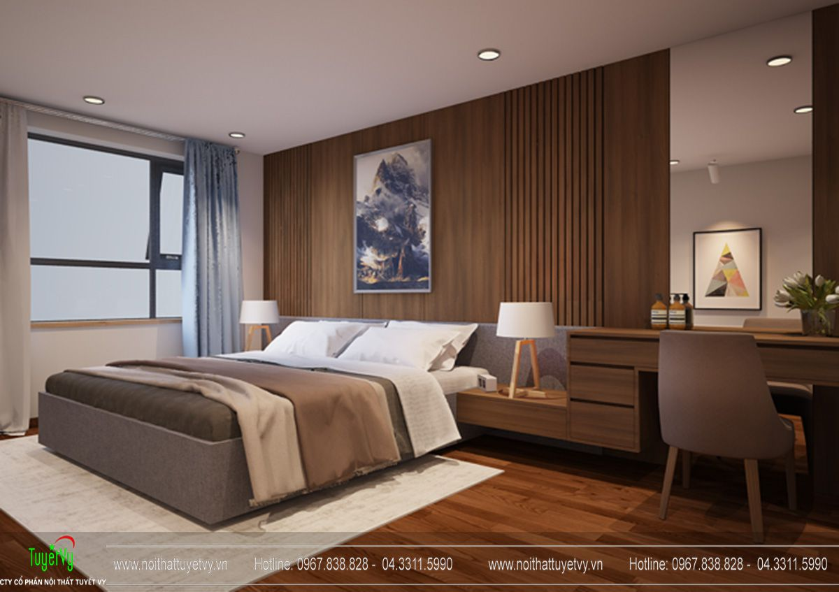 Thiết kế nội thất Goldmark city tòa sapphire 2 căn hộ 08