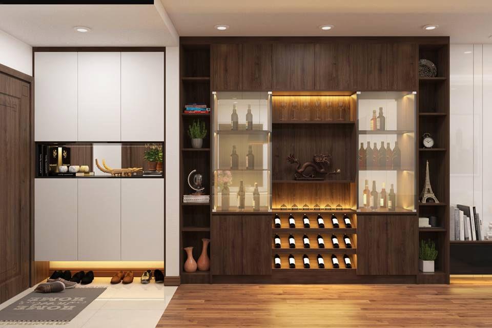 Thiết kế nội thất phòng khách Sapphire 3 căn 06, 14 chung cư Goldmark
