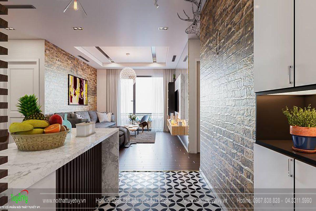 Thiết kế nội thất chung cư Goldmark City Sapphire 1 - 05