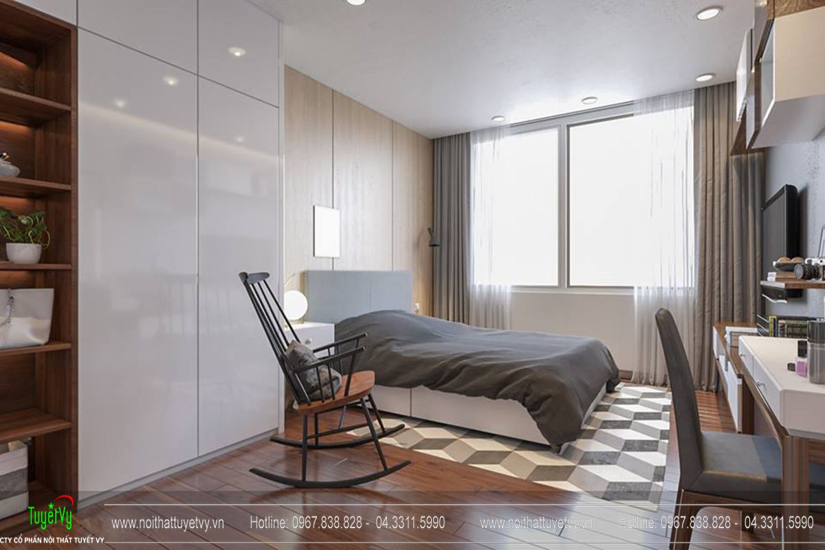 Thiết kế nội thất chung cư Goldmark City Sapphire 1 - 09