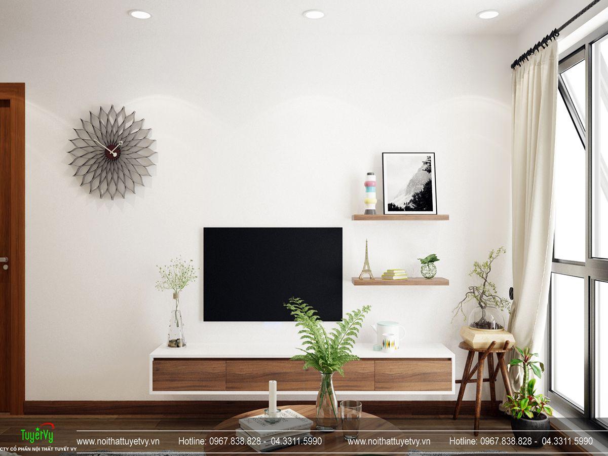 thiết kế nội thất phòng khách chung cư goldmark city