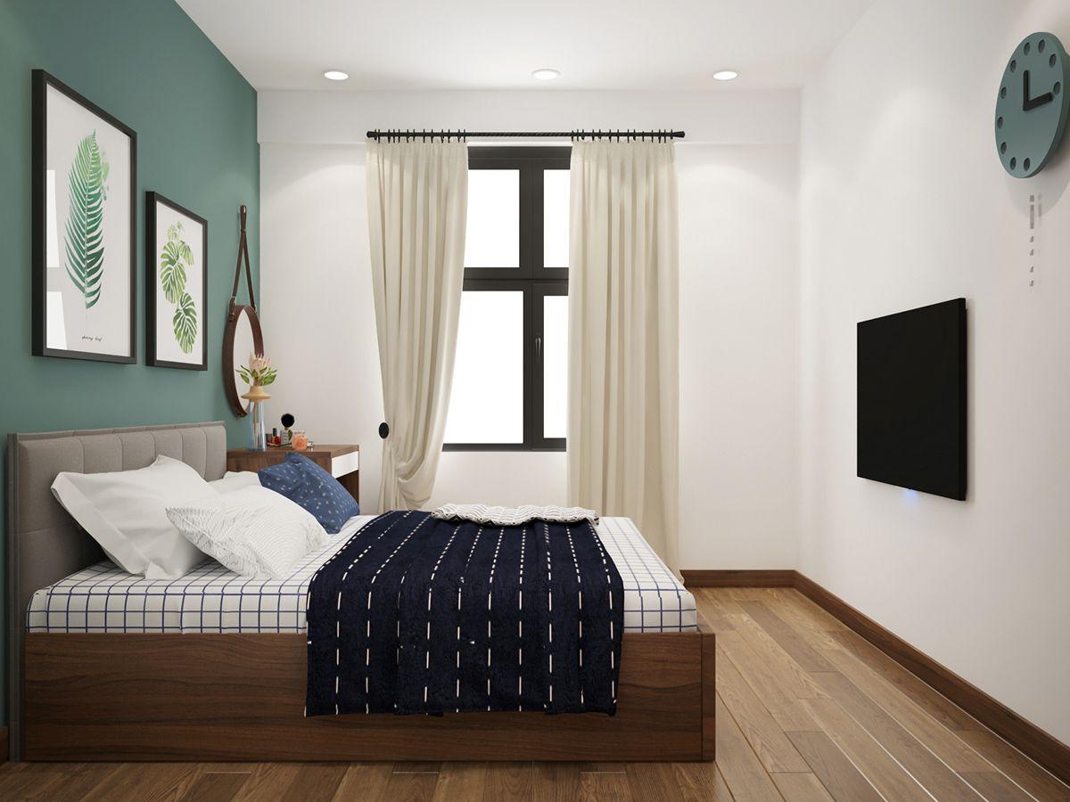 thiết kế nội thất phòng ngủ master chung cư goldmark city