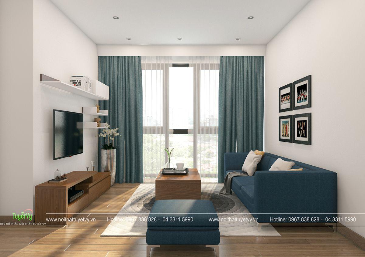 Thiết kế nội thất chung cư giá rẻ Mipec Long Biên 01