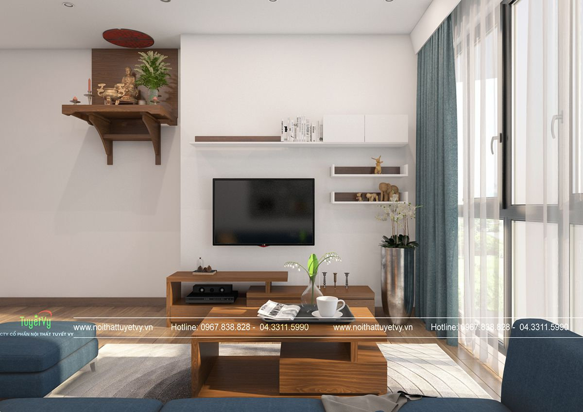 Thiết kế nội thất chung cư giá rẻ Mipec Long Biên 04