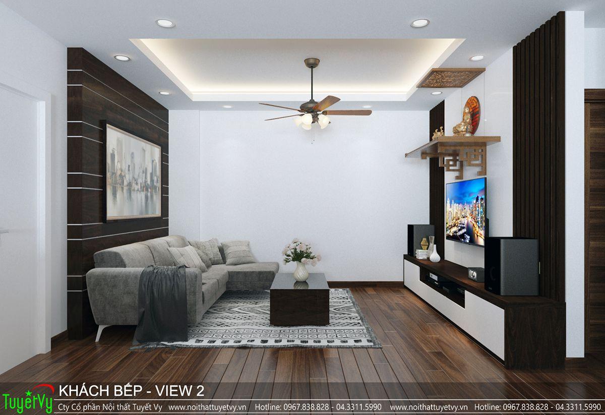 Thiết kế nội thất chung cư CT3 Xala 01