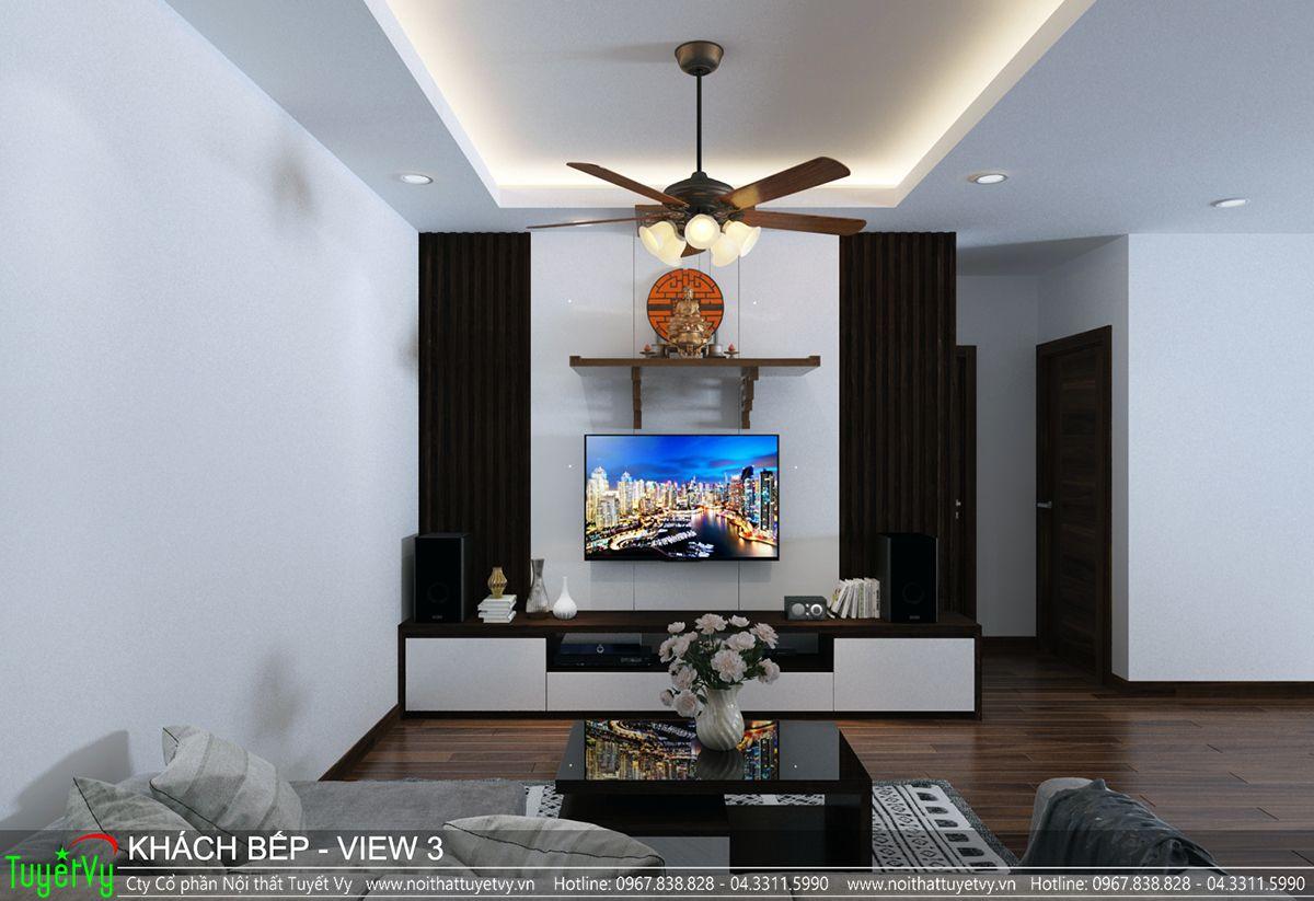 Thiết kế nội thất chung cư CT3 Xala 03