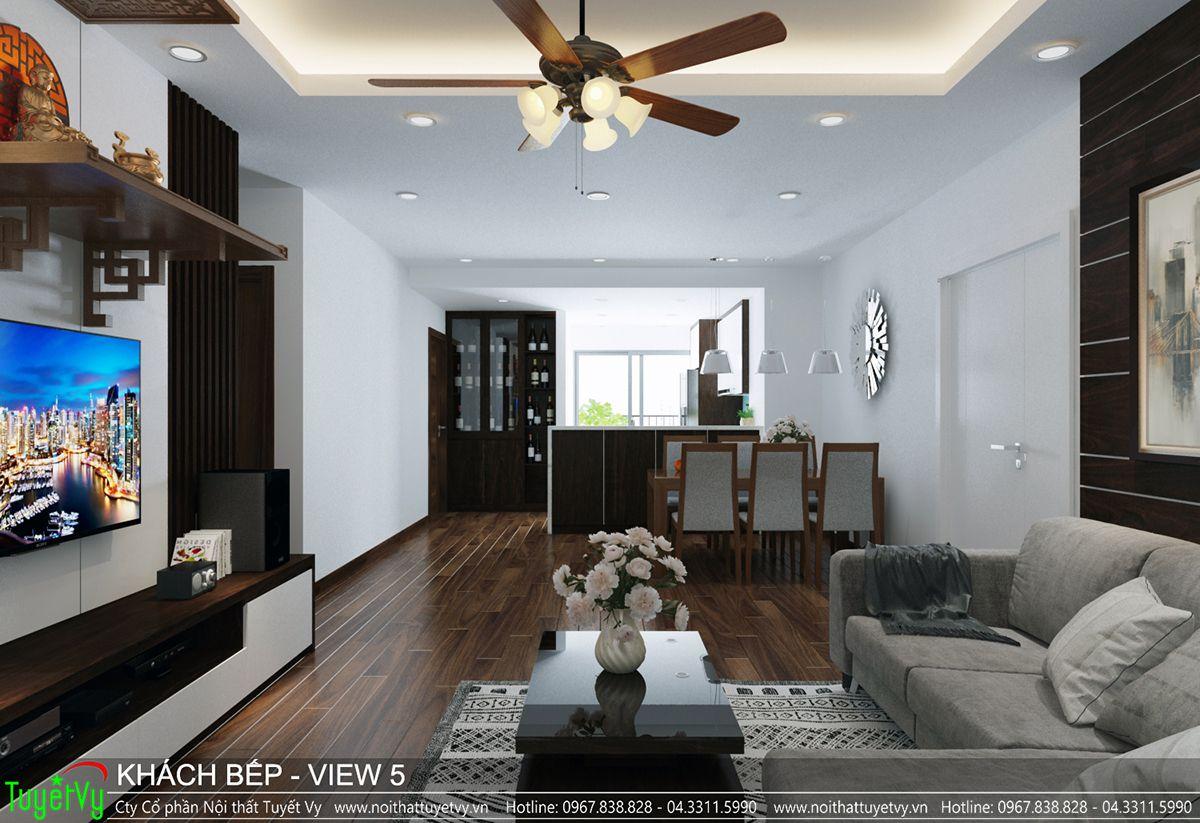 Thiết kế nội thất chung cư CT3 Xala 05