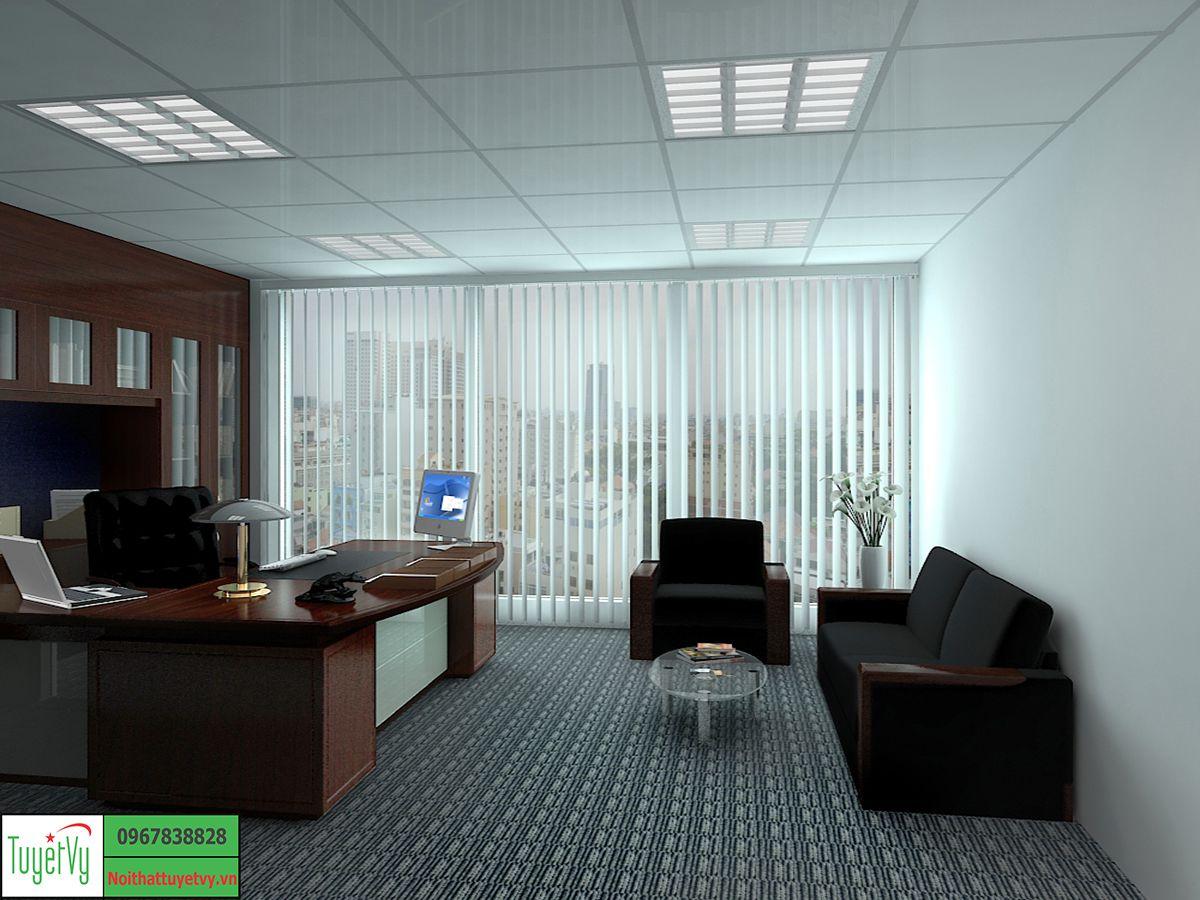 Nội thất phòng giám đốc mang phong cách đơn giản